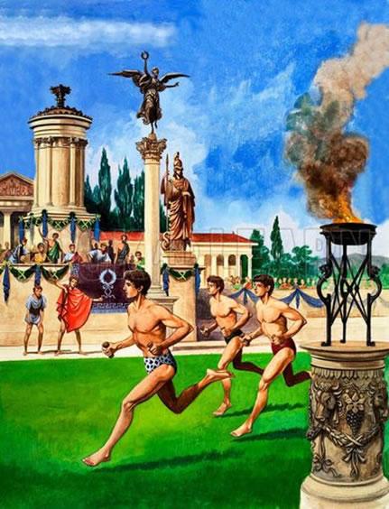 Ancient Greece Olympics Games Illustration